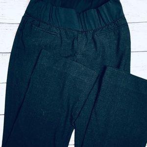 Gap Maternity demi panel dress pant; dark grey; 6R